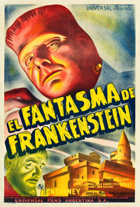"The Ghost of Frankenstein (Universal, 1942). Argentinean Poster (29"" X 43"")"