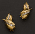 Estate Jewelry:Earrings, Diamond & Gold Earrings. ...