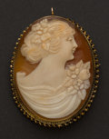 Estate Jewelry:Cameos, Gold Shell Cameo. ...