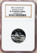 Proof Statehood Quarters, (2)2001-S 25C Rhode Island Silver PR 70 Deep Cameo NGC.... (Total:2 coins)