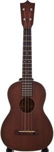 Musical Instruments:Acoustic Guitars, 1950s Martin Tenor Style II Natural Ukulele, #N/A....