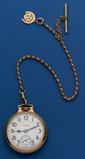 Timepieces:Pocket (post 1900), Hamilton 992 With Chain. ...