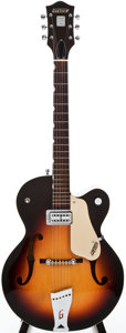 Musical Instruments:Electric Guitars, 1959 Gretsch 6124 Anniversary Sunburst Semi-Hollow Body Electric Guitar, #34707....