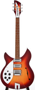 Musical Instruments:Electric Guitars, 1997 Rickenbacker Rose Morris Fireglo Left-Handed Semi-Hollow BodyElectric Guitar, #C3 8711....