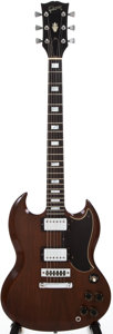 Musical Instruments:Electric Guitars, 1973 Gibson SG Standard Walnut Solid Body Electric Guitar,#125061....