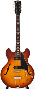 Musical Instruments:Electric Guitars, 1965 Gibson ES-330 Sunburst Archtop Electric Guitar, #366067....