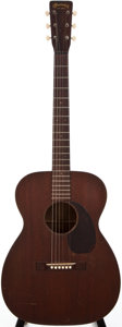 Musical Instruments:Acoustic Guitars, 1955 Martin 00-17 Natural Acoustic Guitar, #145536....