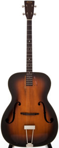 Musical Instruments:Acoustic Guitars, 1937 Martin R-18T Sunburst Acoustic Tenor Guitar, #67086....
