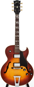 Musical Instruments:Electric Guitars, 1970 Gibson ES-175D Sunburst Semi-Hollow Body Electric Guitar, #135383....