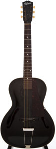 Musical Instruments:Acoustic Guitars, Late 1930s Gibson L-50 Black Acoustic Guitar, #N/A....