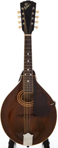 Musical Instruments:Acoustic Guitars, 1920 Gibson A-2 Brown Stain Mandolin, #63940....