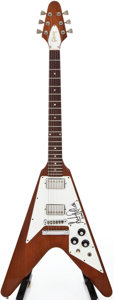 Musical Instruments:Electric Guitars, 1979 Gibson Flying V Natural Mahogany Solid Body Electric Guitar,#71709053....