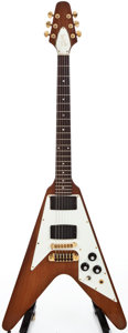 Musical Instruments:Electric Guitars, 1981 Gibson Flying V Natural Mahogany Solid Body Electric Guitar, #83071024....