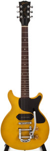 Musical Instruments:Electric Guitars, 1990 Gibson Les Paul Jr. Yellow Solid Body Electric Guitar, #92960324....