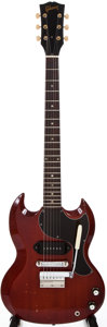 Musical Instruments:Electric Guitars, 1965 Gibson SG Jr Cherry Solid Body Electric Guitar, #349395....
