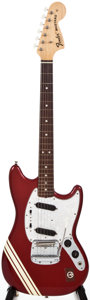 Musical Instruments:Electric Guitars, 1972 Fender Mustang Candy Apple Red Solid Body Electric Guitar,#326569....