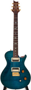 Musical Instruments:Electric Guitars, 2006 Paul Reed Smith (PRS) Single Cut Blue Solid Body ElectricGuitar, #6110128....