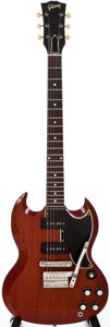 Musical Instruments:Electric Guitars, 1963 Gibson SG Special Cherry Solid Body Electric Guitar, #108836....