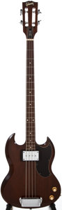 Musical Instruments:Electric Guitars, 1970 Gibson EB-0L Walnut Electric Bass Guitar, #959021....