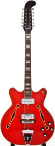 Musical Instruments:Electric Guitars, 1966 Fender Coronado XII Cherry 12-String Semi-Hollow Body ElectricGuitar, #181128....