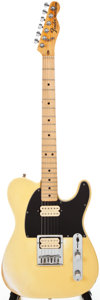 Musical Instruments:Electric Guitars, 1975 Fender Telecaster Olympic White Solid Body Electric Guitar,#297992....