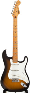 Musical Instruments:Electric Guitars, 1982 Fender Stratocaster Sunburst Solid Body Electric Guitar,#V001052....