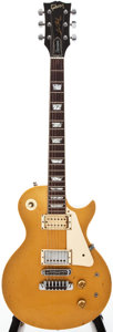 Musical Instruments:Electric Guitars, 1979 Gibson Les Paul Gold Top Solid Body Electric Guitar,#73169528....