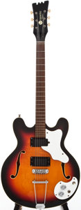 Musical Instruments:Electric Guitars, 1967 Mosrite Celebrity 3 Sunburst Semi-Hollow Body Electric Guitar,#K0120....