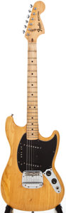 Musical Instruments:Electric Guitars, 1977 Fender Mustang Natural Solid Body Electric Guitar,#S716775....