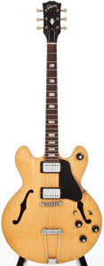 Musical Instruments:Electric Guitars, Early 1970s Gibson ES-150 D Natural Semi-Hollow Body ElectricGuitar, #162537....