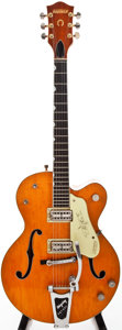 Musical Instruments:Electric Guitars, 1959 Gretsch 6120 Orange Semi-Hollow Body Electric Guitar, #31692....