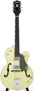 Musical Instruments:Electric Guitars, Recent Re-Issue 1958 Gretsch 6118 Anniversary Two Tone Smoke GreenSemi-Hollow Body Electric Guitar, #JF08010043....