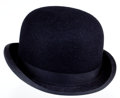 "Movie/TV Memorabilia:Costumes, A Bowler Hat Possibly from ""The Quiet Man.""..."