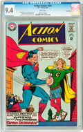 Silver Age (1956-1969):Superhero, Action Comics #354 Twin Cities pedigree (DC, 1967) CGC NM 9.4 White pages....