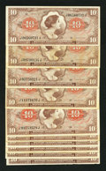 Military Payment Certificates:Series 641, Series 641 First Printing $10. Series 641 Second Printing $10 SixExamples. Series 641 Third Printing $10 Three Exampl... (Total: 10notes)