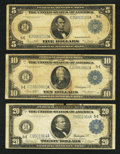 Large Size:Group Lots, Three Denominations of FRNs from Richmond. Very Good to Fine.. ... (Total: 3 notes)