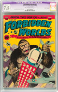 Golden Age (1938-1955):Horror, Forbidden Worlds #6 Trimmed (ACG, 1952) CGC Apparent VF- 7.5Off-white to white pages....