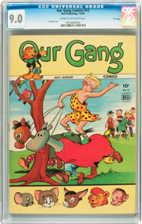 Our Gang Comics #12 File Copy (Dell, 1944) CGC VF/NM 9.0 Cream to off-white pages
