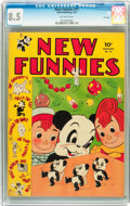 Golden Age (1938-1955):Funny Animal, New Funnies #71 File Copy (Dell, 1943) CGC VF+ 8.5 Off-white pages....