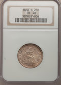 Seated Quarters: , 1868-S 25C XF40 NGC. NGC Census: (5/21). PCGS Population (5/16).Mintage: 96,000. Numismedia Wsl. Price for problem free NG...