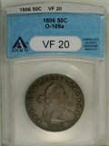 Early Half Dollars: , 1806 50C Pointed 6, No Stem VF20 ANACS. O-109a. PCGS Population(4/124). (#6073)...