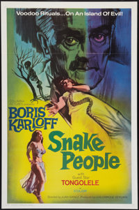 """Snake People (Columbia, 1971). One Sheet (27"""" X 41""""). Horror"""