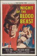 """Movie Posters:Horror, Night of the Blood Beast (American International, 1958). One Sheet (27"""" X 41""""). Horror.. ..."""