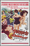 """Movie Posters:Horror, The Playgirls and the Vampire (Fanfare, 1963). One Sheet (27"""" X 41""""). Horror.. ..."""