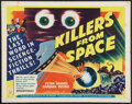 "Movie Posters:Science Fiction, Killers from Space (RKO, 1954). Half Sheet (22"" X 28"") Style A.Science Fiction.. ..."