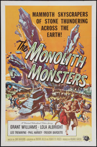 """The Monolith Monsters (Universal International, 1957). One Sheet (27"""" X 41""""). Science Fiction"""