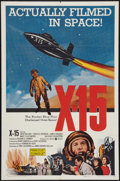 "Movie Posters:Adventure, X-15 (United Artists, 1961). One Sheet (27"" X 41""). Adventure.. ..."