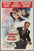 """Movie Posters:Comedy, Father of the Bride (MGM, 1950). One Sheet (27"""" X 41""""). Comedy....."""