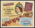 """Movie Posters:Documentary, A Queen is Crowned (Universal International, 1953). Title Lobby Card (11"""" X 14""""). Documentary.. ..."""