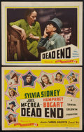 "Movie Posters:Crime, Dead End (Film Classics, R-1944). Title Lobby Card and Lobby Card(11"" X 14""). Crime.. ... (Total: 2 Items)"